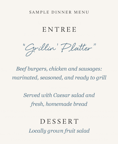 menu 4 - Kitchen services