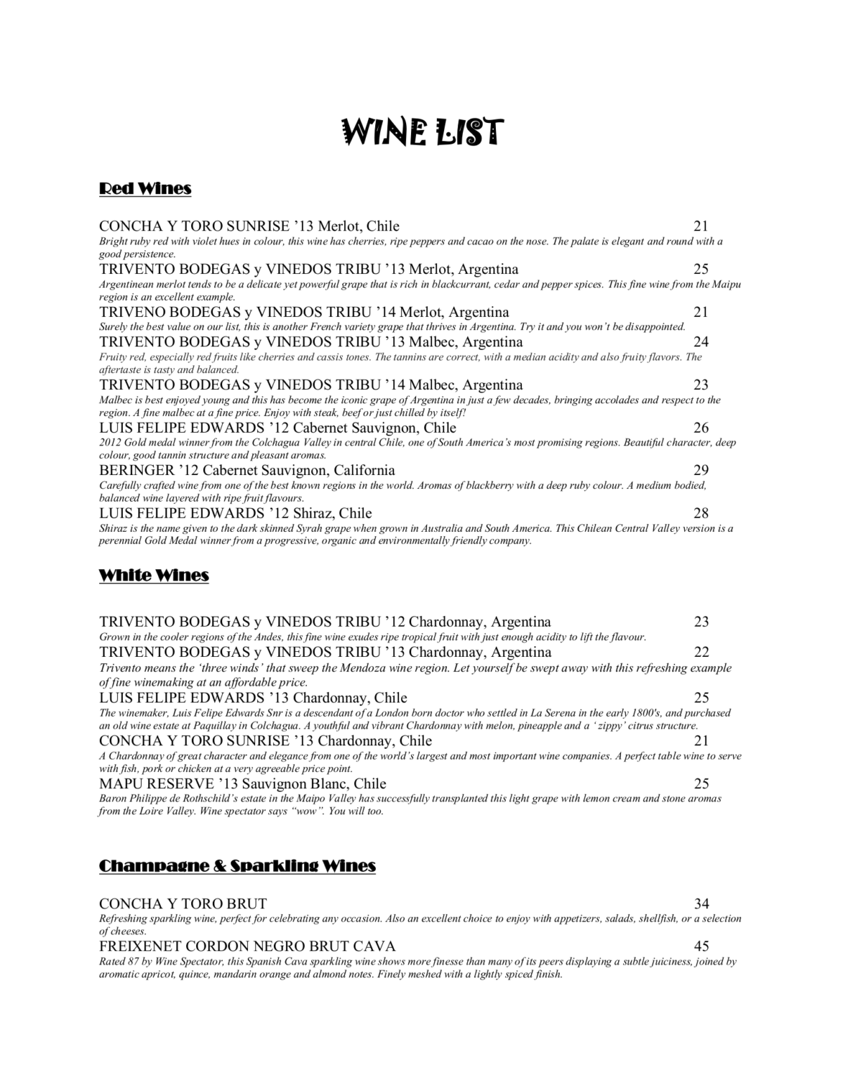 WINE LIST 1200x1553 - Restaurant & Bar