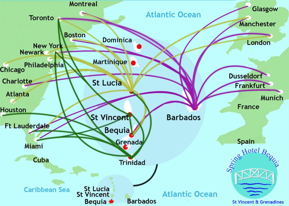 BequiaTravelMap2 1200x857 - How To Get To Bequia
